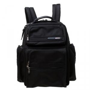 Tumi Black Nylon Expandable Backpack