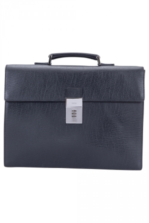 Gucci Black Leather Code Lock Briefcase