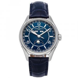 Vacheron Constantin Blue Stainless Steel FiftySix Complete Calendar 4000E/000A-B548 Men's Wristwatch 40 MM