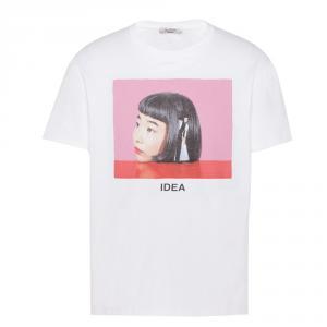 Valentino White Cotton Izumi Miyazaki Crew Neck T Shirt L