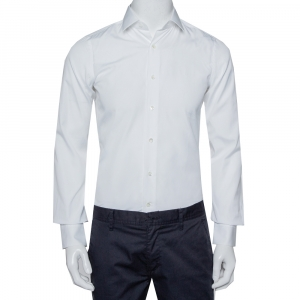 Valentino White Cotton Button Front Shirt S