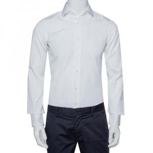 Valentino White Cotton Button Front Shirt S