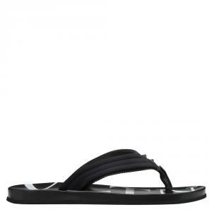 Valentino Black Neoprene and Microfiber VLTN Flip Flops Size 39