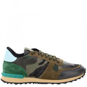 Valentino Garavani Multicolor Camouflage Rockrunner Sneakers Size EU 40