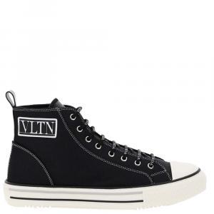 Valentino Garavani Black Vltn Giggies High Top Sneaker Size EU 44