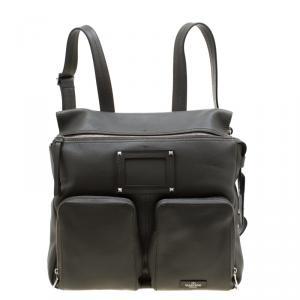 Valentino Olive Leather Traveller Backpack