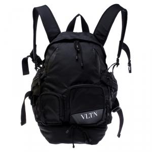 Valentino Black Nylon Backpack