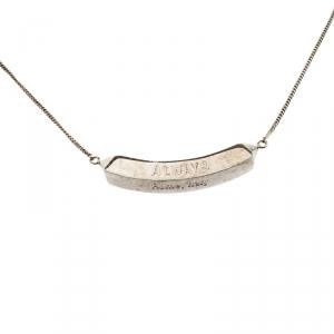 Valentino Always Silver Tone Pendant Chain Necklace
