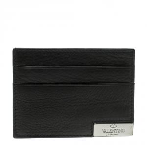 Valentino Black Leather Card Holder