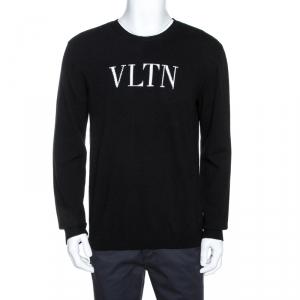 Valentino Black VLTN Knit Long Sleeve Sweater XL