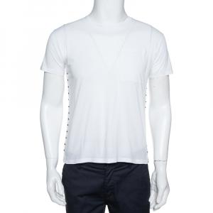 Valentino White Cotton Rockstud Untitled Crew Neck T-Shirt S - used