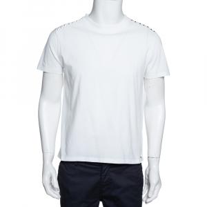 Valentino White Cotton Jersey Rockstud Untitled T-Shirt S