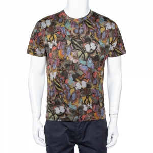 Valentino Multicolor Butterfly Print Cotton T-Shirt S - used