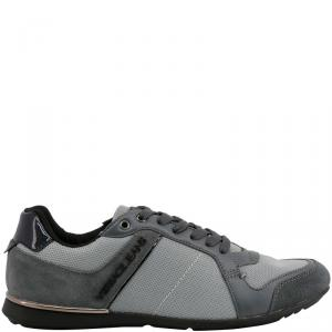 Versace Jeans Grey Fabric and Suede Lace Up Sneakers Size 40
