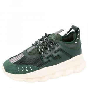 Versace Green Chain Reaction Sneakers Size 40.5