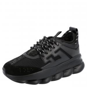 Versace Black Chain Reaction Sneakers Size EU 40