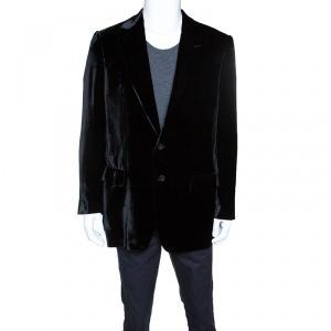 Versace Black Velvet Tailored Blazer XXL