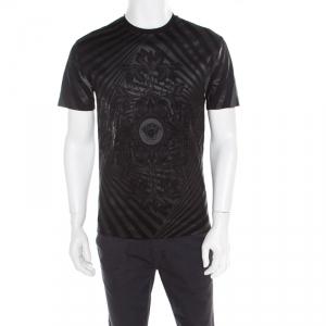 Versace Black Medusa Icon Printed Cotton Crew Neck T- Shirt S