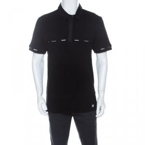Versace Collection Black Cotton Pique Short Sleeve Polo T- Shirt XL