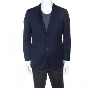 Versace Navy Blue Wool Blazer M