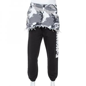 Vetements Black Cotton Camo Print Overlay Jogger Pants S