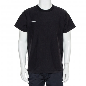 Vetements Black Cotton Inside Out Crewneck T-Shirt M