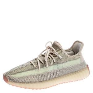 Yeezy x Adidas Mint Green/Cream Cotton Knit Boost 350 V2 Sneakers Size 45.5