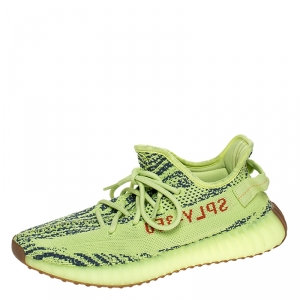 Yeezy X Adidas Green Cotton Knit 350 V2 Sneakers Size 42