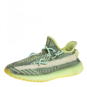 Yeezy x Adidas Green Knit Fabric Boost 350 V2 Yeezreel (Non-Reflective) Sneakers Size 40 2/3