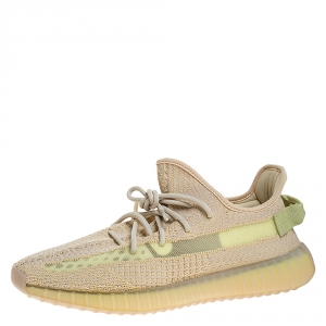 Yeezy Flax Cotton Knit Boost 350 V2 Sneakers Size 46
