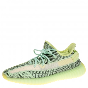 Yeezy x Adidas Green Cotton Knit Boost 350 V2 Yeeree Sneakers Size 45.5