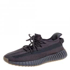Yeezy x Adidas Dark Grey Cotton Knit Boost 350 V2 Cinder Sneakers Size 41 1/3