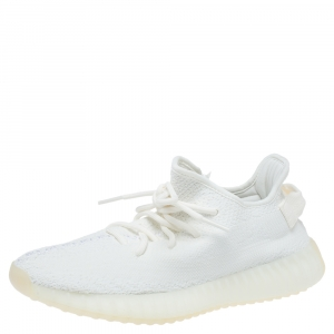 Yeezy x Adidas Cotton Knit Boost 350 V2 Triple White Sneakers Size 40 2/3
