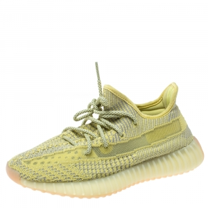 Yeezy x Adidas Yellow Cotton Knit Boost 350 V2 Marsh Sneakers Size 40