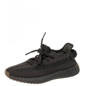 Yeezy x Adidas Dark Grey Cotton Knit Boost 350 V2 Cinder Sneakers Size 37 1/3