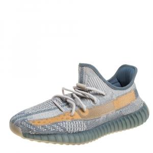 Adidas Yeezy Blue Knit Fabric 350 V2 Israfil Sneakers Size 45