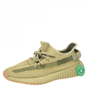 Yeezy x Adidas Boost 350 V2 Sulfur Sneakers Size 42
