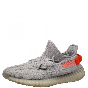 Yeezy x Adidas Grey Knit Fabric Boost 350 V2 Tail Light Sneakers Size 43 1/3
