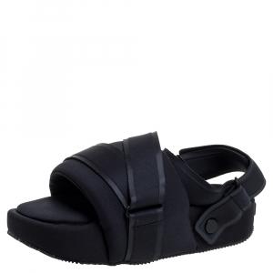 Yohji Yamamoto Black Fabric Y-3 Sandals Size 39