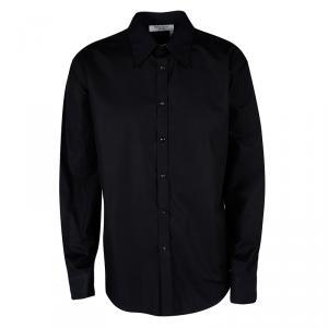 Yves Saint Laurent Paris Black Button Front Long Sleeve Shirt 4XL