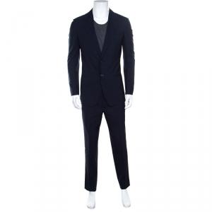 Yves Saint Laurent Navy Blue Wool Tailored Suit M