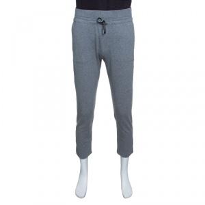 Z Zegna Grey Drawstring Detail Track Pants M