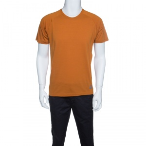 Z Zegna Techmerino Burnt Orange Wool Crew Neck T-Shirt M - used