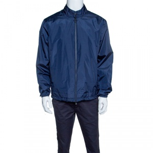Z Zegna Travel Concept Navy Blue Water Resistant Zip Front Jacket L