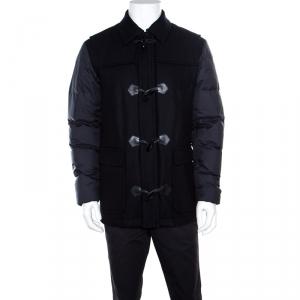 Z Zegna Navy Blue Wool Panel Detail Puffer Down Jacket M