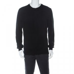 Z Zegna Black Cotton Double Layer Sweatshirt XXL