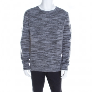 Zadig and Voltaire Marled Bicolor Wool Crew Neck Jeremy Fe Sweater XL - used