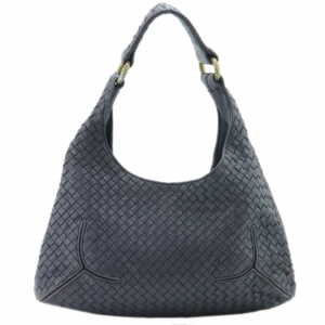 Bottega Veneta Purple Woven Leather Ball Hobo Bag