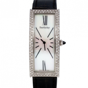 Barthelay White Diamond Fond Acier Womens Wristwatch 22 MM
