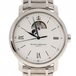 Baume & Mercier White Stainless Steel Classima Men's Wristwatch 42MM